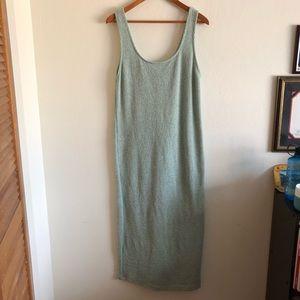 Zara Light green knit maxi dress